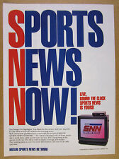 1990 Mizlou SNN Sports News Network tv station promo vintage print Ad