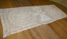 LOVELY ANTIQUE FRENCH NORMANDY MIXED LACE TABLE RUNNER 44""