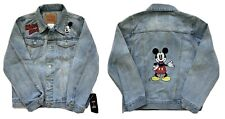 NEW NWT LEVIS + MICKEY MOUSE Kids Boys Jean Jacket Disney Denim Rare Sold Out M