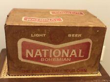 Vintage National Beer Baltimore MD plastic Cardboard Box Crate