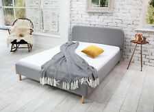 MODERN SINGLE 4FT6 DOUBLE & 5FT KING SIZE FABRIC BED FRAME & MATTRESS CHEAP BEDS