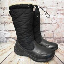 Womens UGG Australia Black Leather Sheepskin Zip Up Winter Boots UK 4.5 EUR 37