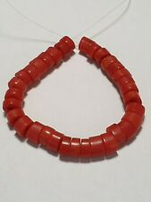 33 ANTIQUE WONDERFUL RED CORAL BEADS.
