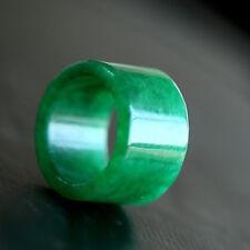 Genuine 100% Beautiful Natural Icy Green Jadeite Jade Ring Size USA 5# to 12#
