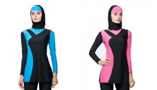 Womens Islamic Muslim Cover up Swim Top & Hood Modest Swimwear Burkini Swimming