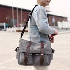 Men's Casual Vintage Canvas Crossbody Bags Shoulder Messenger Bags Big Tote Bag