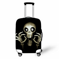 Cool Skull Head Travel Luggage Suitcase Carrier Bag Cover Protector 22 24 26 28