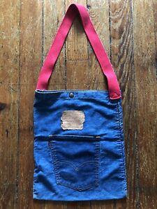 Vintage LEVI'S 501 Big E Denim Tote Bag  Designs San Francisco