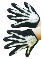 Child Raised Skeleton Gloves Bones Boys Girls Halloween Fancy Dress Accessory Ne
