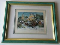 "Original Watercolor Painting, Signed, Framed, 8"" x 6"" (Image), 16"" x 13"" (Frame)"