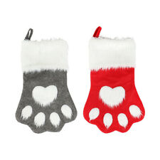 Christmas pet dog cat paw stocking socks christmas tree pendant gift christmas