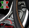 FOR MERCEDES W639 VITO 2 LEATHER STEERING WHEEL COVER, ORANGE DOUBLE STITCH 03-1