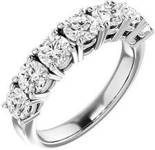 7 Round Diamond Ring Platinum Anniversary Band 3.50 carat F-G color VS/SI1