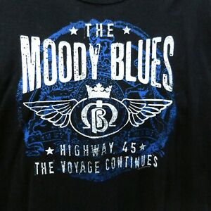 Moody Blues T-shirt Size XL The Voyage Continues Highway 45 Tour Concert 2012
