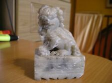 vintage  carved soap stone Chinese foo lion fu dog sculpture