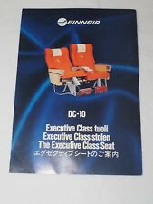 Vintage FINNAIR DC-10 THE EXECUTIVE CLASS SEAT Operating instructions