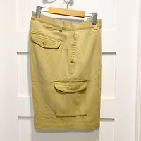 Tommy Bahama Men's Size 34 100% Silk Flat Front Cargo Dress Shorts