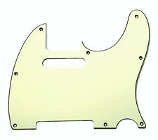 NEW PICKGUARD TELECASTER parchment 3 ply for guitar tv