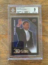 2009 Upper Deck 3D STARS President Barack Obama LENTICULAR Motion BGS Graded 9