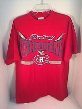 Montreal Canadiens Shirt Red Short Sleeve NHL Hockey Adult Large Shirt