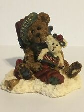 Boyds Bear Christmas Figurine Honey B Elfberg With Gabriella.Believe New1998