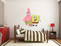 New Sponge Bob and Friends X large GIANT VINYL WALL STICKER DECALS CHILDREN 62