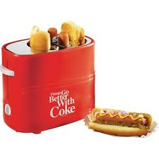Nostalgia Electrics Retro Coca-Cola Hot Dog Toaster, Coke Bun Warmer and Maker