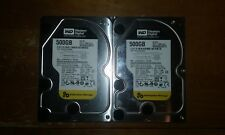 "Lot of 2 - Western Digital Enterprise 500GB 3.5"" SATA Hard Drives - WD5002ABYS"
