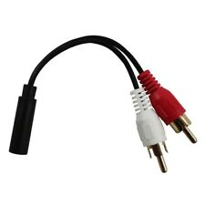 B2G1 Free 2 RCA to Stereo Audio 3.5mm Jack Plug Socket to Headphone Y Cable Cord