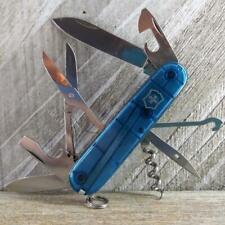 Victorinox Climber (Light Sapphire Blue) Swiss Army Knife Good Condition Hiking