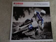 Yamaha Off Road Competition Motorcycle Sales Brochure 2014