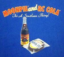 "MOONPIE & RC COLA lrg T shirt soda ""It's a Southern Thing"" pop tee Georgia"