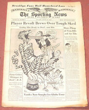 8-27-52 SPORTING NEWS DETROIT TIGERS AND CASEY STENGAL ON COVER BASEBALL
