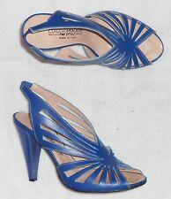 CLAUDIO FRACASSA sandales cuir bleu Roy P 38 TBE