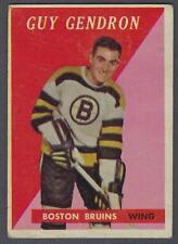 1958-59 Topps Boston Bruins Hockey Card #51 Jean-Guy Gendron