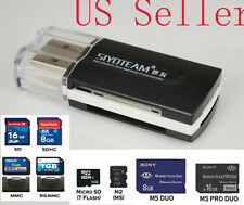 USB CARD READER ADAPTER Memory Stick MS PRO DUO NEW