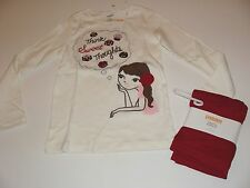 Gymboree Holiday Sweet Treats Girls Size 6 Top Candy Bon Red Leggings NWT NEW