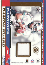 2001 Vanguard dual game used jersey card Damon Huard / Bert Emanuel