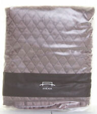 Ankasa Harvest Aubergine Quilted Cotton Back Zipper 1 Euro Sham NWT $88