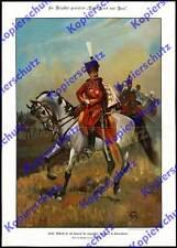Adolf bosque Wilhelm II. el general uniforme K.u.K húsares-Regimiento nº 7 desfile 1896