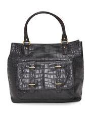 ETIENNE AIGNER black crocodile embossed leather tote handbag nwt