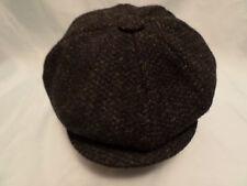 gents Scottish harris tweed 100% wool newsboy cabbie cap direct from SCOTLAND