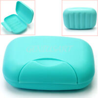 Plastic Soap Case Holder Container Box Home Outdoor Hiking Camping Travel Blue