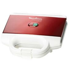 Moulinex Sandwich Maker Toaster Fast 700W NonStick Coating Compact Red White New