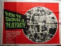 HOW TO SEDUCE A PLAYBOY 1966 QUAD POSTER PETER ALEXANDER ANTONELLA LUALDI