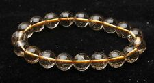 11mm Rare Natural Clear Gold Rutilated Quartz Crystal Round Hand catenary