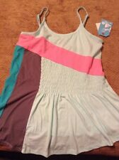 roxy girl size XL (14) mint green tank with color block NWT