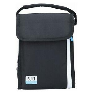 Built Freezable Lunch Picnic Small Bag With Removable Ice Gel Packs Black/White