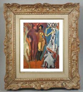JANINE MARCA (1921-2013)  SUPERBE SCENE ANIMEE FAUVISTE VERS 1960 (141)