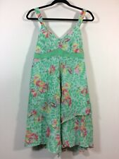 Gap Maternity Dress Size 8 Floral Layered Look Adjustable Sun Dress Silk Lining